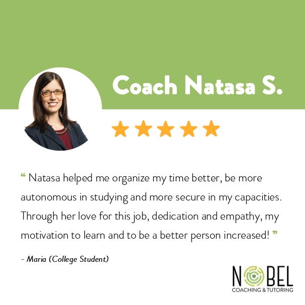 Testimonials about coach Natalie