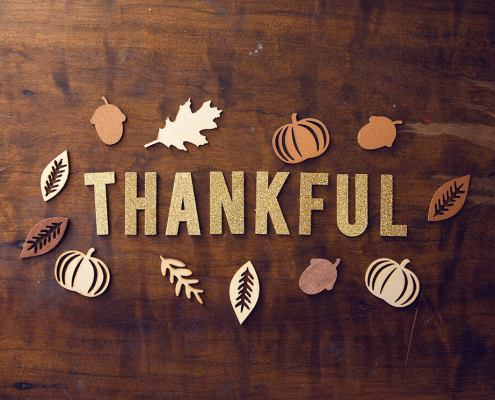 Thanksgiving table reminding you to be thankful for all the little things